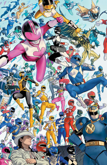 Boom Studios Power Rangers #1 Comic Book [Dan Mora Every Ranger Ever Variant]