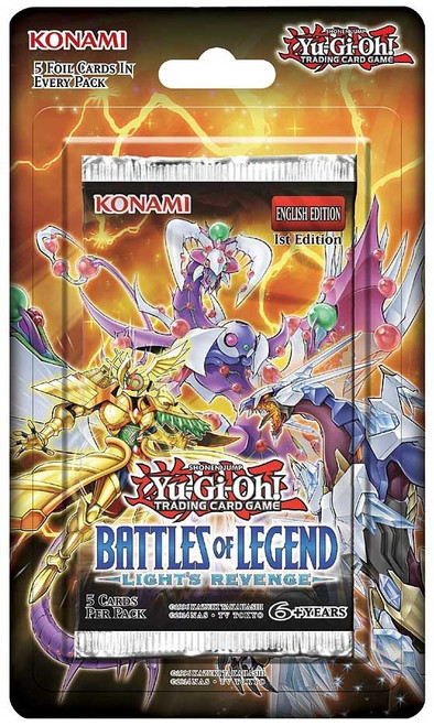 YuGiOh Trading Card Game Battles of Legend Light's Revenge BLISTER Booster Pack