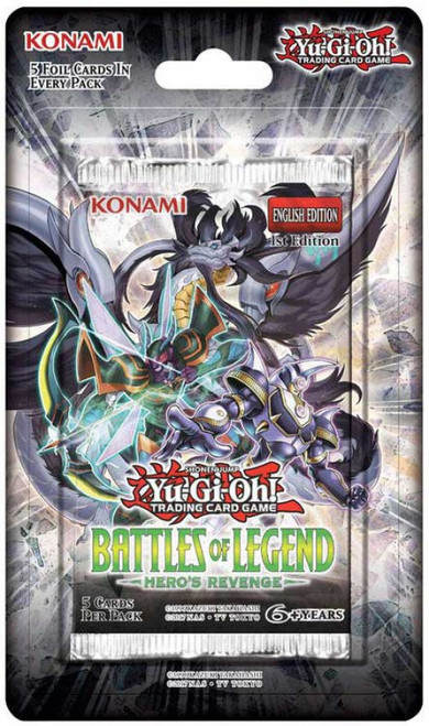 YuGiOh Trading Card Game Battles of Legend Hero's Revenge BLISTER Booster Pack