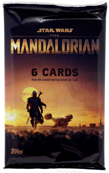 Star Wars The Mandalorian Season 1 Trading Card BLASTER Pack [6 Cards]