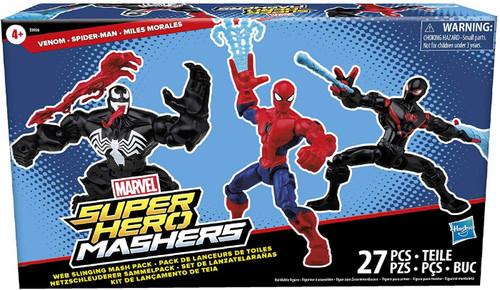 Marvel Super Hero Mashers Web Slinging Mash Pack Exclusive Action Figure 3-Pack [Venom, Spider-Man & Miles Morales]