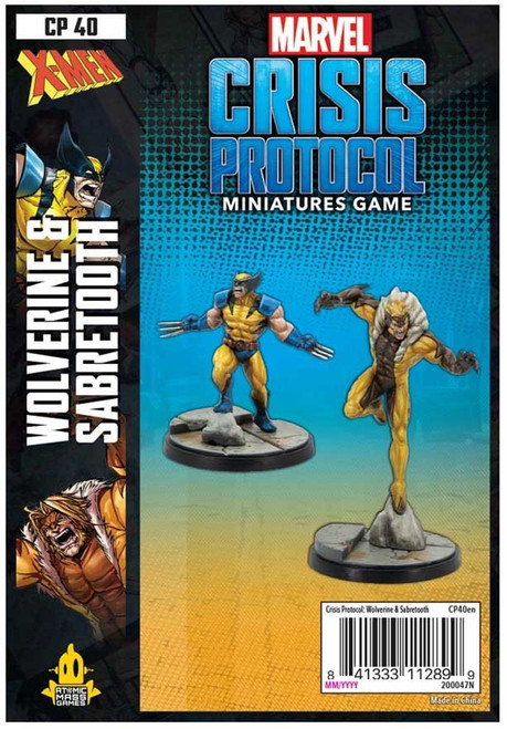 Marvel Crisis Protocol Wolverine & Sabertooth Character Pack