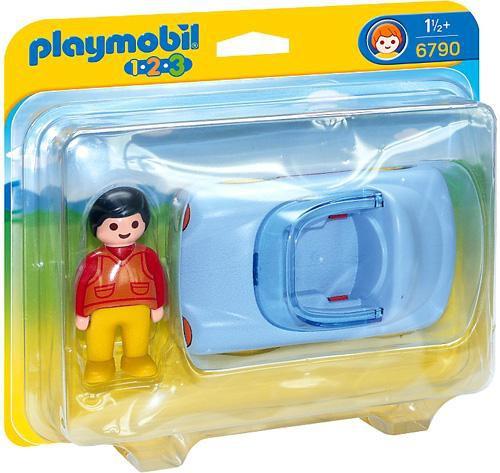 Playmobil 1.2.3 Convertible Car Set #6790