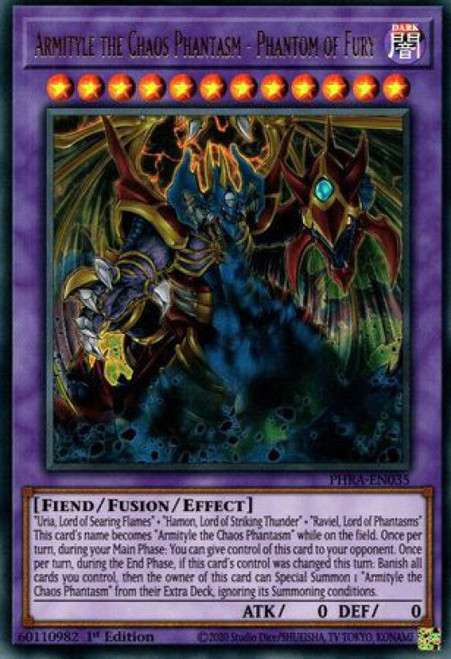 YuGiOh Phantom Rage Ultra Rare Armityle the Chaos Phantasm - Phantom of Fury PHRA-EN035