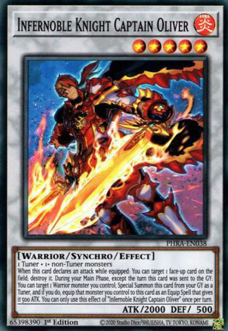 YuGiOh Phantom Rage Super Rare Infernoble Knight Captain Oliver PHRA-EN038