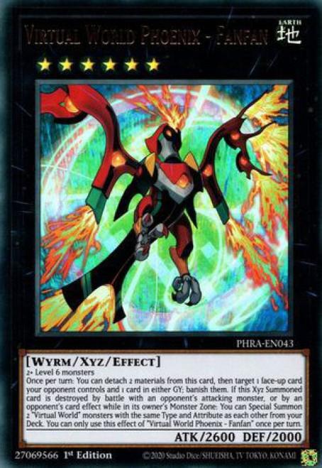 YuGiOh Phantom Rage Ultra Rare Virtual World Phoenix - Fanfan PHRA-EN043