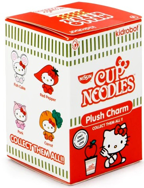 Sanrio Hello Kitty Plush Charm Nissin Cup Noodles 3-Inch Mystery Pack [1 RANDOM Figure] (Pre-Order ships September)