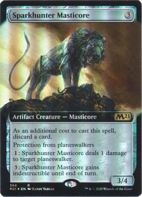 MtG 2021 Core Set Rare Sparkhunter Masticore #384 [Extended Art Foil]