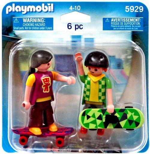 Playmobil Figures Skaters Set #5929 [Damaged Package]