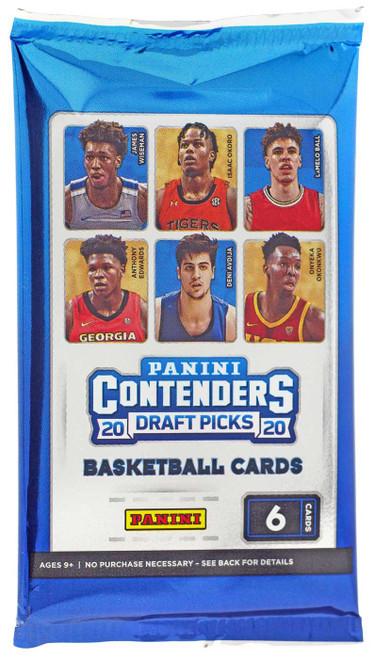Collegiate Panini 2020-21 Contenders Draft Picks Basketball Trading Card RETAIL Pack [6 Cards]