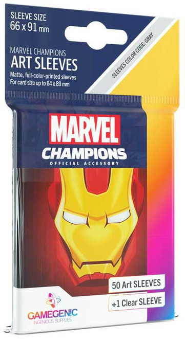 Marvel Champions LCG Iron Man Standard Card Sleeves