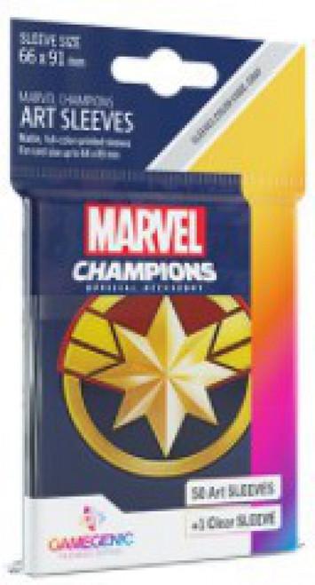 Marvel Champions LCG Captain Marvel Standard Card Sleeves (Pre-Order ships November)