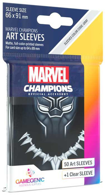 Marvel Champions LCG Black Panther Standard Card Sleeves