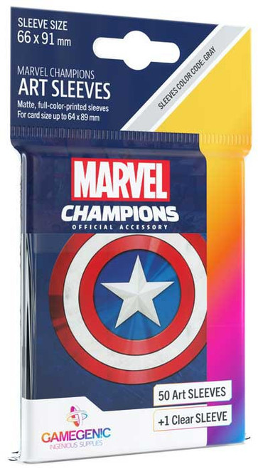 Marvel Champions LCG Captain America Standard Card Sleeves