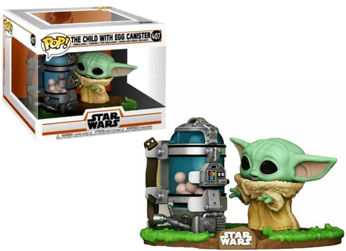 Funko The Mandalorian POP! Star Wars The Child with Egg Canister Deluxe Vinyl Figure #407