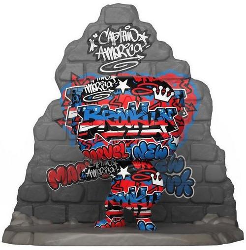 Funko Marvel Street Art Collection POP! Marvel Captain America Exclusive Vinyl Figure