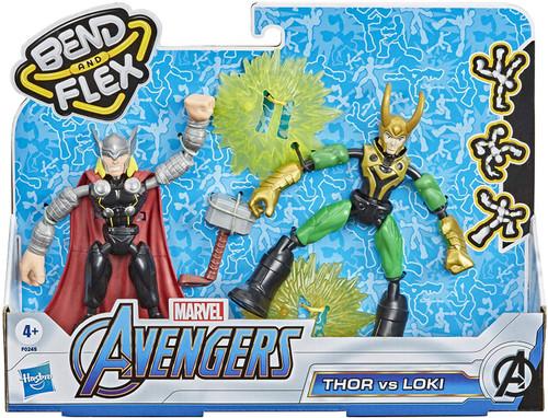 Marvel Avengers Bend & Flex Thor vs. Loki Action Figure 2-Pack