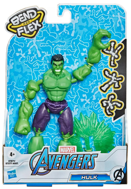 Marvel Avengers Bend & Flex Hulk Action Figure [2021]