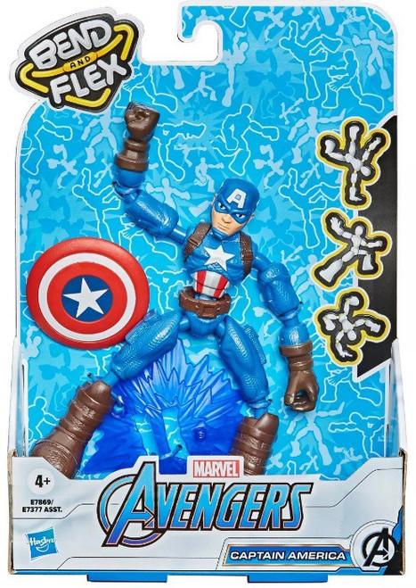 Marvel Avengers Bend & Flex Captain America Action Figure [2021] (Pre-Order ships January)