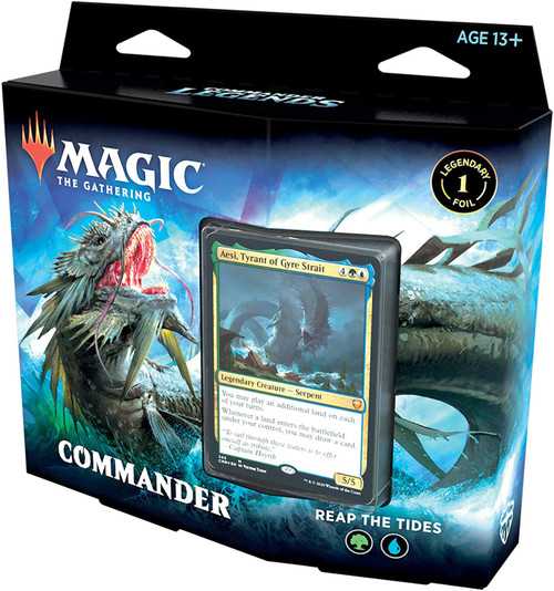 MtG Trading Card Game Commander Legends Reap the Tides Deck [Blue & Green]
