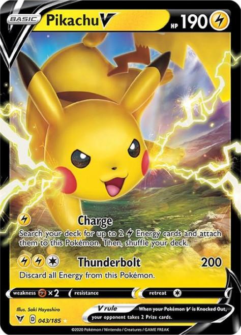 Pokemon Vivid Voltage Ultra Rare Holo Pikachu V #43