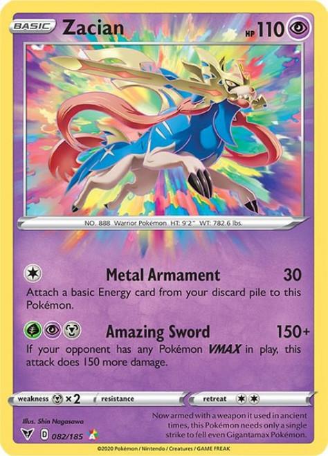 Pokemon Sword & Shield Vivid Voltage Amazing Rare Zacian #82