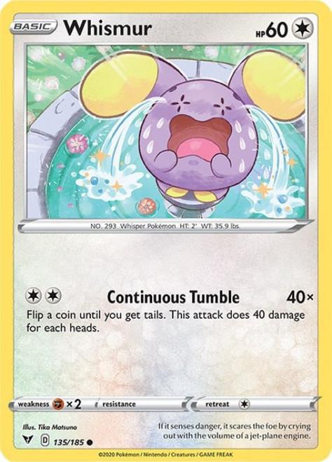 Pokemon Sword & Shield Vivid Voltage Common Whismur #135
