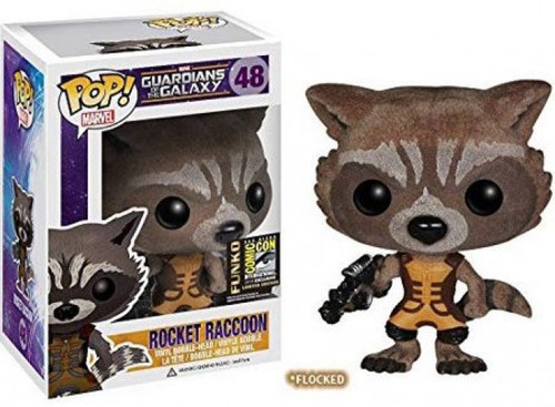 Funko Guardians of the Galaxy POP! Marvel Rocket Raccoon Exclusive Vinyl Bobble Head #48 [Flocked]