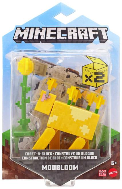 Minecraft Craft-A-Block Moobloom Action Figure