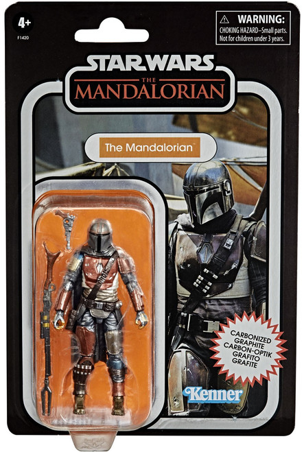 Star Wars Vintage Collection The Mandalorian Exclusive Action Figure [Carbonized] (Pre-Order ships January)