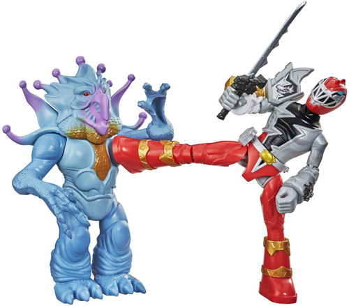 Power Rangers Dino Fury Battle Attackers Red Ranger & Doomsnake Action Figure 2-Pack