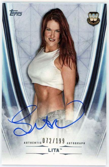 WWE Wrestling Topps 2020 Undisputed Lita 072/199 Single Sports Card A-LT [Autograph!]