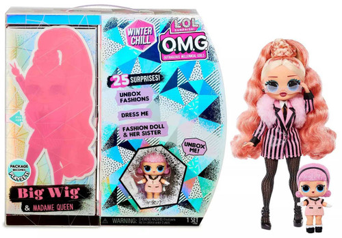 LOL Surprise Winter Chill OMG Big Wig & Madame Queen Fashion Doll