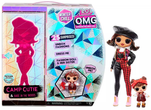 LOL Surprise Winter Chill OMG Camp Cutie & Babe in the Woods Fashion Doll