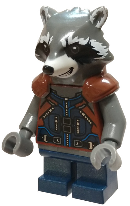 LEGO Marvel Super Heroes Guardians of the Galaxy Vol. 2 Rocket Raccoon Minifigure [Dark Blue Outfit Loose]