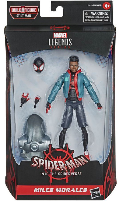 Spider-Man Into the Spider-Verse Marvel Legends Stilt-Man Series Miles Morales Action Figure