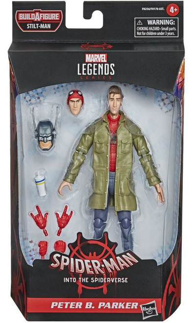 Spider-Man Into the Spider-Verse Marvel Legends Stilt-Man Series Peter B. Parker Action Figure