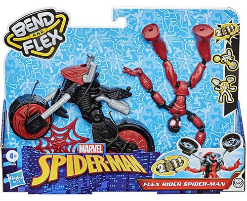 Marvel Bend & Flex Flex Rider Spider-Man 6-Inch Vehicle
