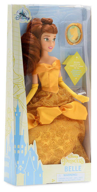 Disney Princess Beauty and the Beast Classic Belle Exclusive 11.5-Inch Doll [with Pendant]