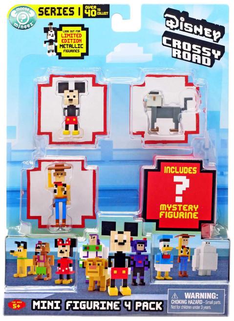 Crossy Road Disney Series 1 Mickey, Woody & Rafiki Mini Figure 4-Pack