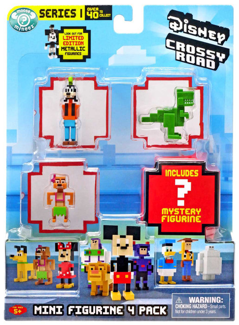 Crossy Road Disney Series 1 Goofy, Timon & Rex Mini Figure 4-Pack