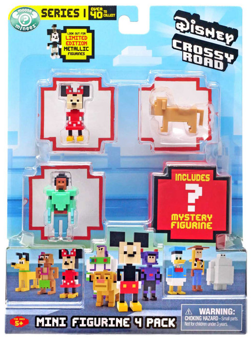 Crossy Road Disney Series 1 Minnie Mouse, Nala & Wasabi No-Ginger (Super Suit) Mini Figure 4-Pack
