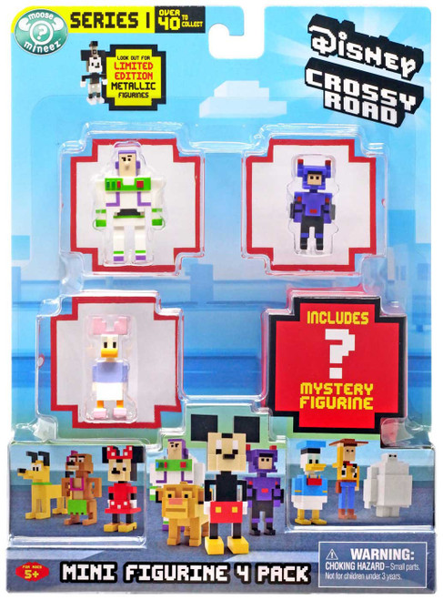 Crossy Road Disney Series 1 Buzz Lightyear, Daisy Duck & Hiro (Super Suit) Mini Figure 4-Pack