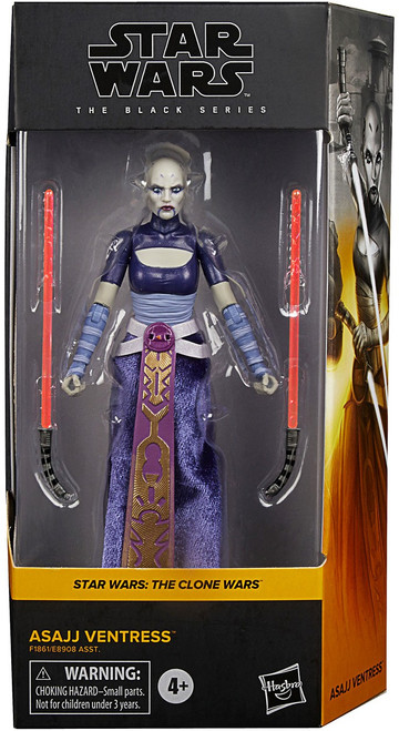 Star Wars The Clone Wars Black Series Wave 4 Asajj Ventress Action Figure (Pre-Order ships May)
