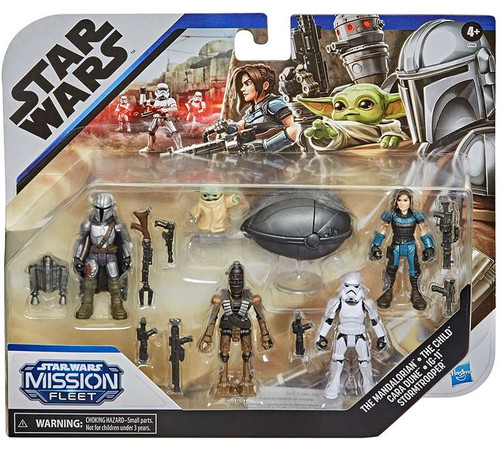 Star Wars Mission Fleet Defend the Child 2.5-Inch Figure 5-Pack [The Mandalorian, The Child, Cara Dune, IG-11 & Stormtrooper]