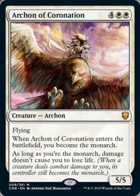 MtG Commander Legends Mythic Rare Archon of Coronation #9