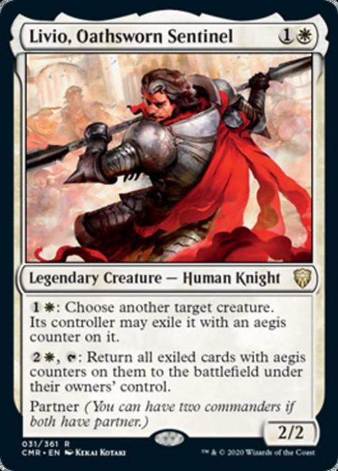 MtG Commander Legends Rare Livio, Oathsworn Sentinel #31