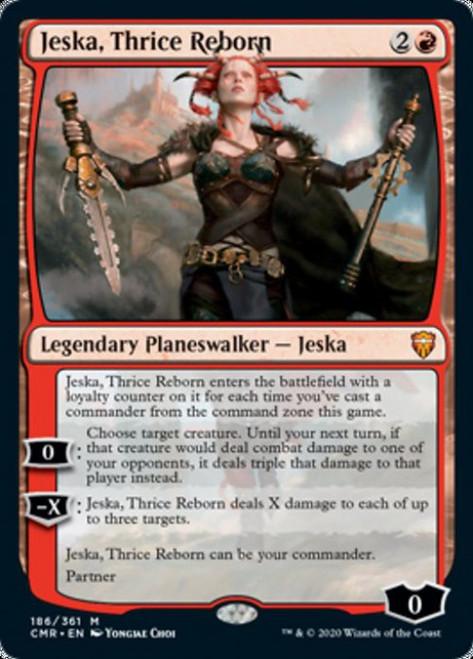 MtG Commander Legends Mythic Rare Jeska, Thrice Reborn #186