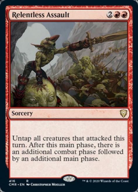 MtG Commander Legends Rare Relentless Assault #416 [Commander Deck]