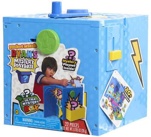 Pocket Watch Ryan's World Mystery Playdate Ultra Mystery Box Exclusive Set [Blue, Damaged Package]